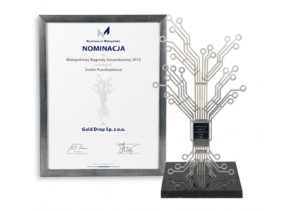 Gold Drop was granted the Małopolska Business Award statue in the category of medium-sized enterprises.