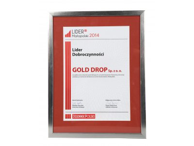 Gold Drop Honoured with Title of 2014 Charity Leader