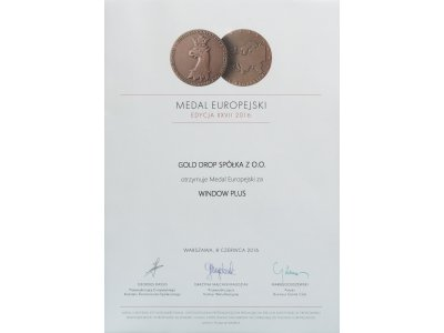 European Medal for Window Plus cleaner