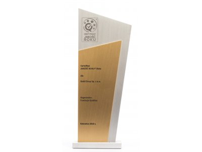 QUALITY PRODUCT OF THE YEAR – Gold Drop Sp. z o.o. takes gold