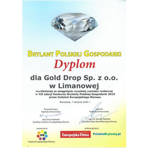 Gold Drop Sp. z o.o. to Brylant Polskiej Gospodarki 2019